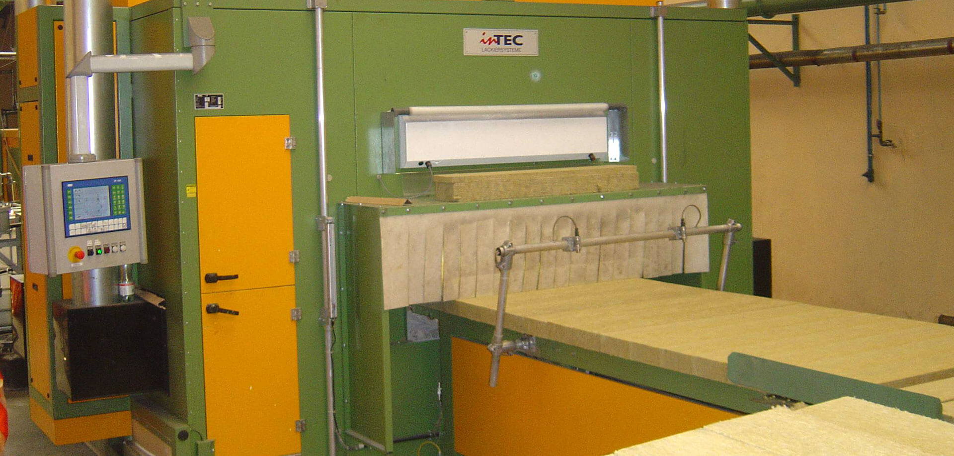 Coating systems for coating mineral wool panels or mineral wool slats - InTEC